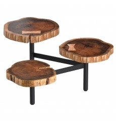 Anika-Tripod Coffee Table-Natural (301-557NT) - Worldwide HomeFurnishings