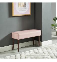 Gwen-Bench-Blush Pink (401-631BSH) - Worldwide HomeFurnishings