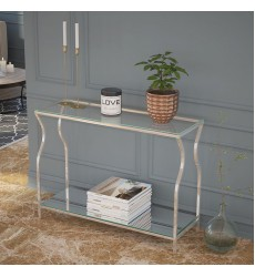 Willo-Console Table-Silver (502-523CH) - Worldwide HomeFurnishings