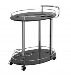 Inka-2-Tier Bar Cart-Black (556-094BK) - Worldwide HomeFurnishings