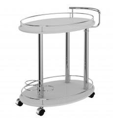 Inka-2-Tier Bar Cart-Grey (556-094GY) - Worldwide HomeFurnishings