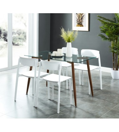 Abbot/Bruno Wt-5Pc Dining Set (207-453/442WT)