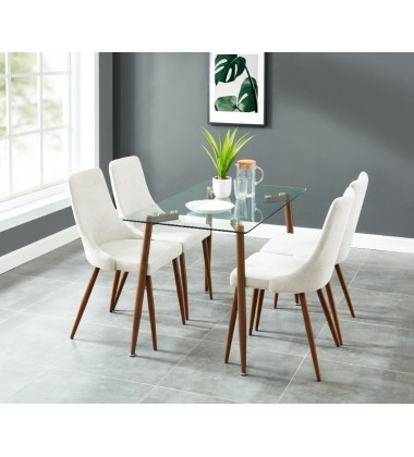 Abbot/Cora Beige-5Pc Dining Set (207-453/182BG)