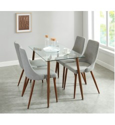 Abbot/Cora Grey-5Pc Dining Set (207-453/182GY)