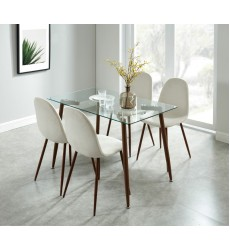 Abbot/Lyna Beige-5Pc Dining Set (207-453/250BG)