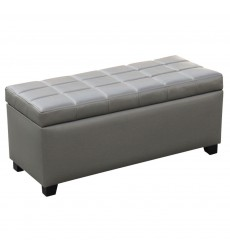 Worldwide - Abby Storage Ottoman - Grey (402-715GY)