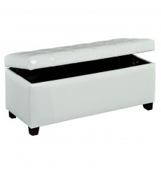 Worldwide - Abby Storage Ottoman - White (402-715WT)