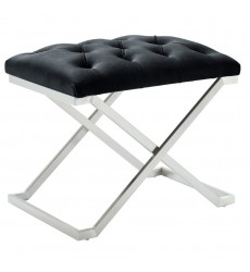 Aldo-Single Bench-Black/Silver (401-103BK) - Worldwide HomeFurnishings