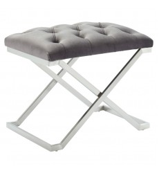 Aldo-Single Bench-Grey/Silver (401-103GY) - Worldwide HomeFurnishings