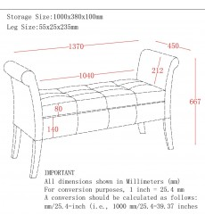 Worldwide - Alicia Storage Bench - White (401-761WT)