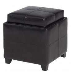 Anton Ii-Storage Ottoman-Brown (402-772BN) - Worldwide HomeFurnishings