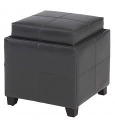 Anton Ii-Storage Ottoman-Grey (402-772GY) - Worldwide HomeFurnishings
