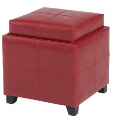 Anton Ii-Storage Ottoman-Red (402-772RD)