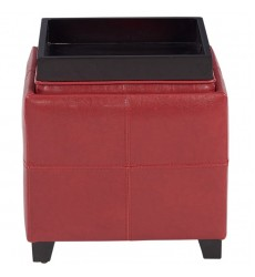 Anton Ii-Storage Ottoman-Red (402-772RD) - Worldwide HomeFurnishings