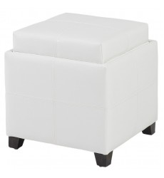 Worldwide - Anton Ii Storage Ottoman - White (402-772WT)