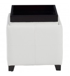 Anton Ii-Storage Ottoman-White (402-772WT) - Worldwide HomeFurnishings