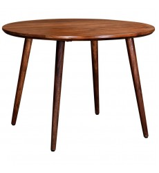 Arnav-Round Dining Table-Walnut (201-445RND) - Worldwide HomeFurnishings