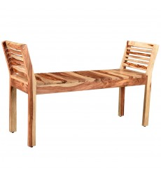 Worldwide - Asha Double Bench - Dark Sheesham (401-354DS)