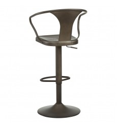 Astra-Adjustable Stool-Gunmetal (203-116)