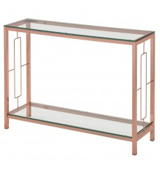 Athena-Console Table-Rose Gold (502-747RG) - Worldwide HomeFurnishings