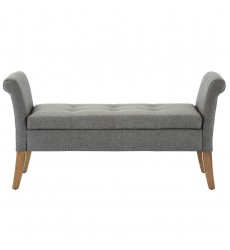 Audrey-Storage Bench-Grey (401-338GY) - Worldwide HomeFurnishings