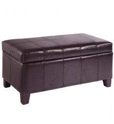 Worldwide - Bella Storage Ottoman - Brown (402-449BN)