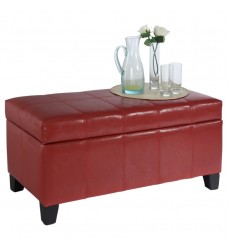 Worldwide - Bella Storage Ottoman - Red (402-449RD)