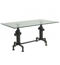 Worldwide - Bronx Dining Table - Antique Black (201-267BK)