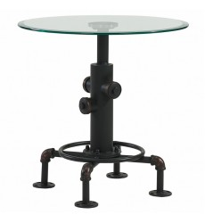 Worldwide - Bronx Accent Table - Antique Black (501-267BK)