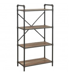 Bronx-4 Tier Étagère-Antique Black (505-267BK-4T) - Worldwide HomeFurnishings