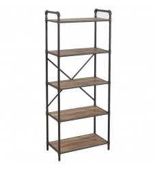 Worldwide - Bronx 5 Tier Étagère - Antique Black (505-267BK-5T)