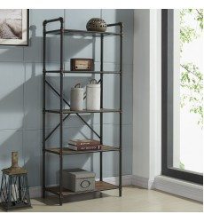 Bronx-5 Tier Étagère-Antique Black (505-267BK-5T)