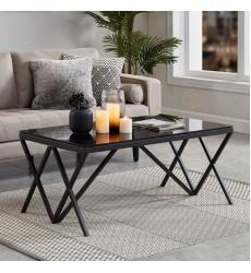 Calix-Coffee Table-Black (301-699BK) - Worldwide HomeFurnishings