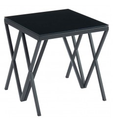 Calix-Accent Table-Black (501-699BK) - Worldwide HomeFurnishings