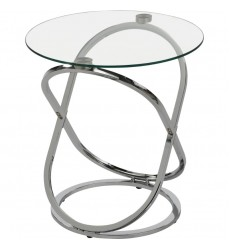 Worldwide - Carlyn Accent Table - Chrome (501-260CH)