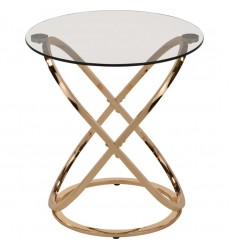 Worldwide - Carlyn Accent Table - Gold (501-260GL)