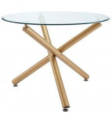 Worldwide - Carmilla Dining Table - Gold (201-353GD)