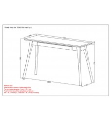 Chintu-Console/Desk-Light Grey (502-500LG) - Worldwide HomeFurnishings