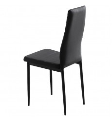 Contra-Side Chairs-Black (202-843BK) Side Chair - Worldwide HomeFurnishings