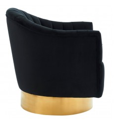 Cortina-Accent Chair-Black/Gold (403-433BK) - Worldwide HomeFurnishings
