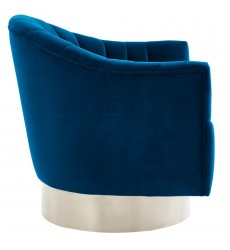 Cortina-Accent Chair-Blue/Silver (403-433BLU) - Worldwide HomeFurnishings