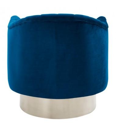 Cortina-Accent Chair-Blue/Silver (403-433BLU) - Worldwide HomeFurnishings