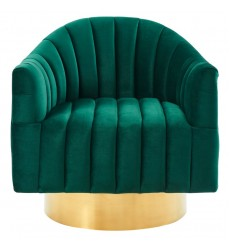 Cortina-Accent Chair-Green/Gold (403-433GRN) - Worldwide HomeFurnishings