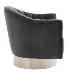 Cortina-Accent Chair-Grey/Silver (403-433GY) - Worldwide HomeFurnishings