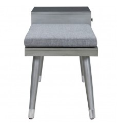 Worldwide - Elba Bench W/Drawer - Grey (401-198GY)
