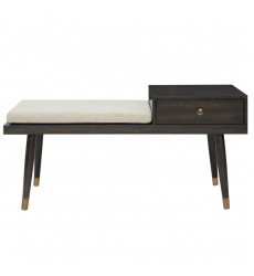 Worldwide - Elba Bench W/Drawer - Walnut (401-198WAL)