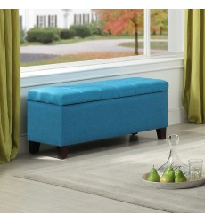 Worldwide - Elena Storage Ottoman - Blue (402-136BL)