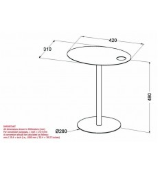 Enzo-Accent Table-White (501-098WT)
