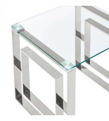 Eros-Coffee Table-Silver (301-482CH)