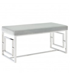 Worldwide - Eros Double Bench - Chrome/Grey (401-482CH)